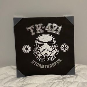 Black + White Star Wars Storm Troopers Wall Canvas